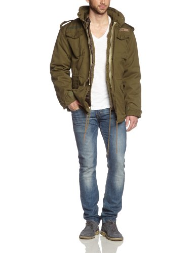 Surplus Herren Parka Jacke Regiment M 65 Jacket, Grün (Olive), Gr. XL -
