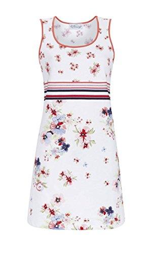 Ringella Bloomy Damen Nachthemd im Mustermix Weiss 42 9251004, Weiss, 42