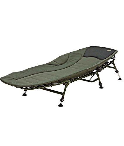 MAD Morpheus Bedchair, 6-Bein Alu-Karpfenliege, 207x75x35cm, inkl. DAM Karpfenliegentransporttasche