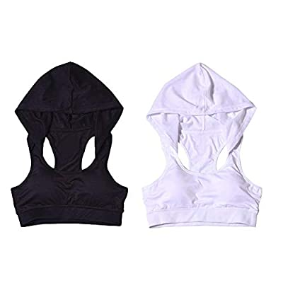 PROKTH Womens Running Vest Hooded Sports Bra Corsets Gym Sports Vest Womens Tank Tops