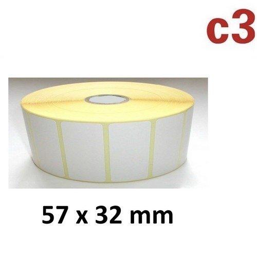 57x32 mm ThermoEtiketten Rolle mit 2.100 Etiketten Zebra,Citizen,Intermec, TEC