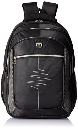 Albert and James Synthetic Black and Grey Laptop Bag