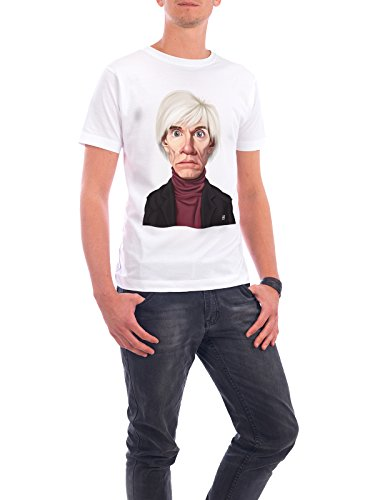 "Design T-Shirt Männer Continental Cotton ""Andy Warhol"" - stylisches Shirt Abstrakt von Rob Snow Weiß"