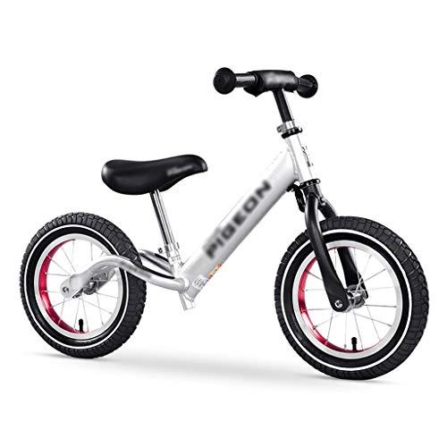 Klappräder Kinder-Laufrad Stufenloser Schlitten Walker 2-in-1 Gummiluftreifen Aluminiumrahmen Leichtgewicht (Color : Weiß, Size : 90 * 47cm)