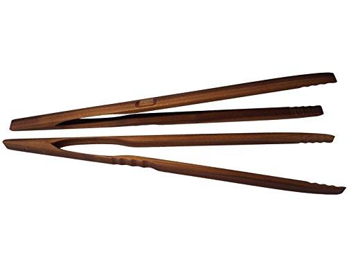 BierEx XXL Profi Grillzange aus Holz 60cm 600mm Nussbaum Extra Lang Lange Holzgriff Nussbaumholz Mehrzweckzange Pfanne Grill Multizange Küchenzange auswählbar 32 40 46 60 74 80 88 cm Zangen