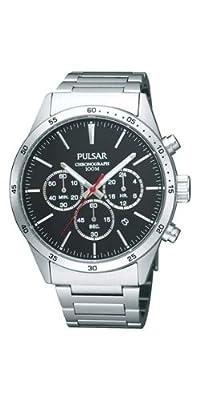 Pulsar Uhren PT3005X1 - Reloj cronógrafo de cuarzo para hombre con correa de acero inoxidable, color plateado de Pulsar Uhren