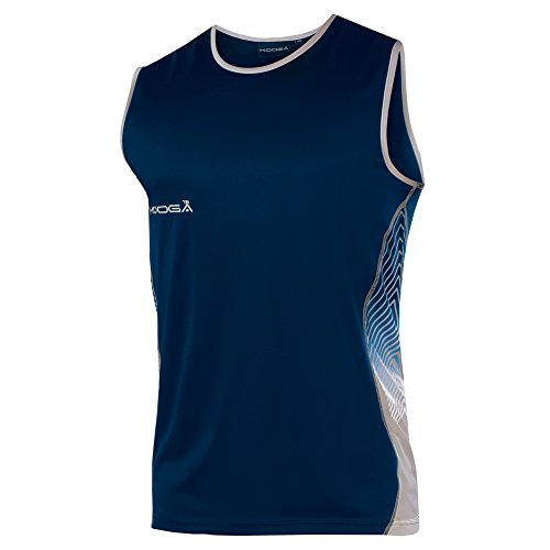 KooGa Herren Muskel-Shirt / Sport-Top, ärmellos (XL) (Marineblau/Grau) (Muskel-shirt Ärmelloses T-shirt)