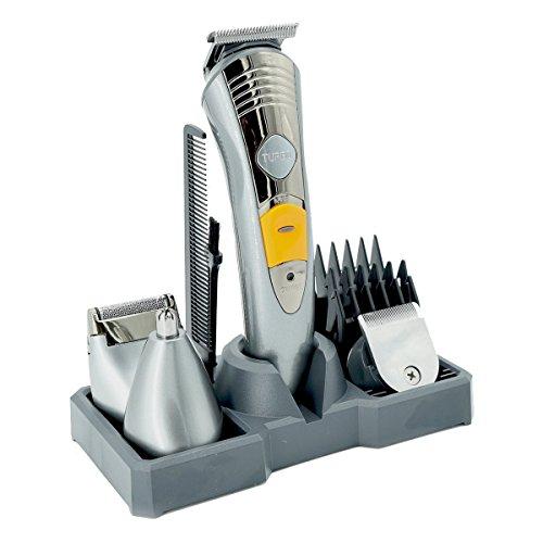 Haarschneide Set Gesicht+Körper+Haar, T-Antrix 7 in 1 Herren Grooming Kit Haarschneider Maschine Bartschneider Dual Rasierer Haarschneidemaschine, Körpertrimmer, Haarschneider, Langhaarschneider, Haartrimmer, Wiederaufladbar