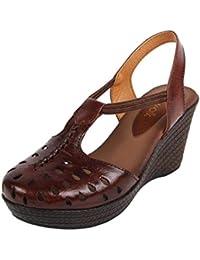 Catwalk Women's Brown Wedge Sandals Fashion