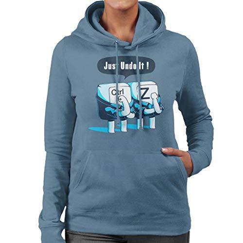 Cloud City 7 Just Undo It Keyboard Keys Women's Hooded Sweatshirt
