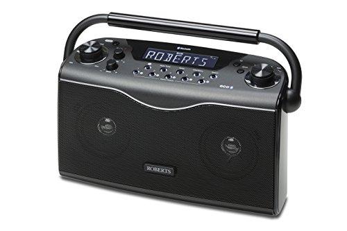 Roberts Radio ecoLogic4 BT tragbares DAB+/FM Radio mit Bluetooth schwarz