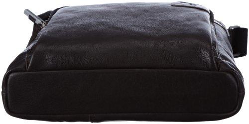 Strellson Balham ShoulderBag MV 4010000156 Herren Schultertaschen 28x31x6 cm (B x H x T), Schwarz (black 900) Braun (dark brown 702)