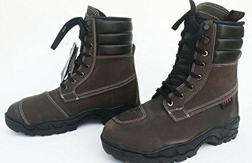 Xtrm nuovi stivali moto 301 stivali da viaggio urban touring scarpe casual buster lace up stivale per uomo e donna - brown - 42/8