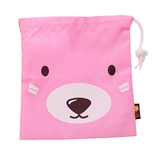 Gespout strahl tor beutel lovely travel shave bag viaggio abbigliamento intimo contenitore set piccolo mazzo tasche cordino da 3pezzi rosa