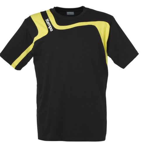 Kempa Aspire Shirt nero/limone, nero / lime, XXS