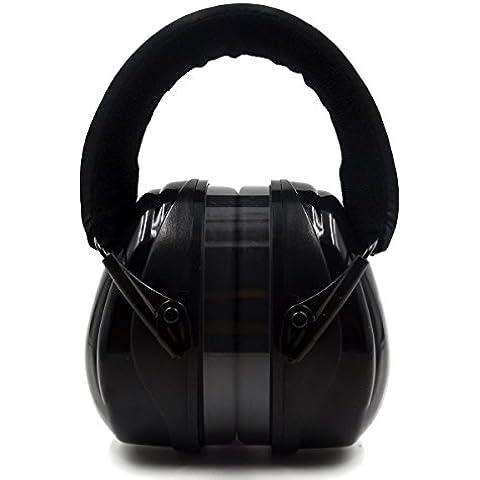 Ripresa Ear Protection Safety manicotti con cancellazione di rumore di costruzione - proteggere l'udito per Industrial arma da fuoco Caccia sonno Sport figli adulti, Nero