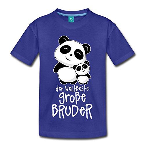 Spreadshirt Weltbester Großer Bruder Niedliche Pandas Kinder Premium T-Shirt, 98/104 (2 Jahre), Königsblau