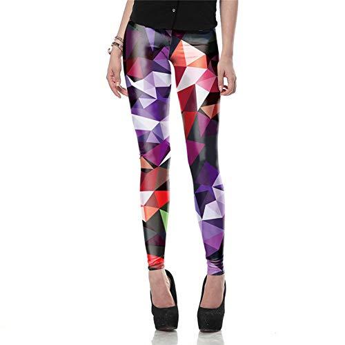f42889d8ed26b YUJIAKU Moda Mujer Leggings 3D legines de Color Ray Fluorescencia Leggins  pantalón Legging para Mujer