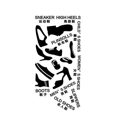 Ruiting Kreative Schuh Classification Aufkleber Wohnzimmer Schuhschrank Selbstklebende Logo Aufkleber Removable dekorative Aufkleber Home dekor