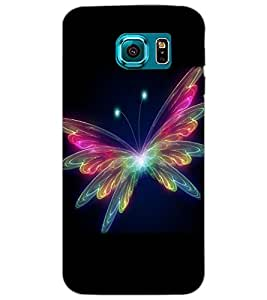 SAMSUNG GALAXY S6 BUTTERFLY Back Cover by PRINTSWAG