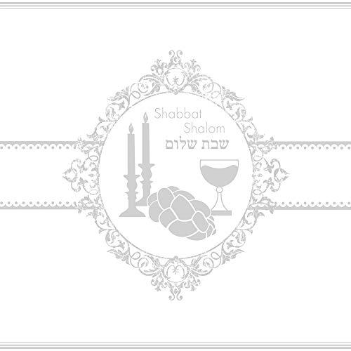 20 Servietten Shabbat Shalom silber/Sabbat / Fest/Feier / Judentum 33x33cm