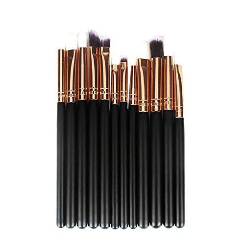 Leisial 12 pcs Pinceau de Maquillage pour Les Yeux Ensemble D'outils de Beauté Professional Set de Brosse de Maquillage pour Cadeau de Vacances des Dames