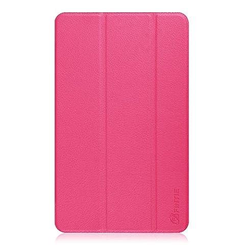 Acer Iconia Tab 8 A1-840 FHD Hülle Case [Neuerscheinung] – Fintie ultradünn Schutzhülle Tasche SmartShell Cover Etui mit Ständer für Acer Iconia Tab 8 A1-840 FHD (8 Zoll) Tablet, Magenta