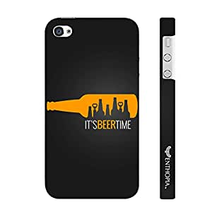 Enthopia Designer Hardshell Case Its Beer Time Back Cover for Apple IPhone 4