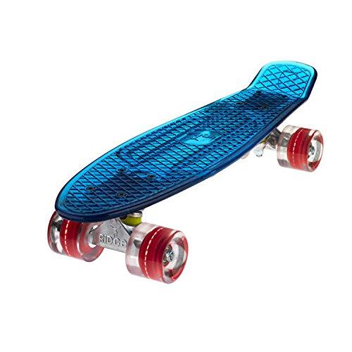 Ridge Skateboard Blaze Mini Cruiser , blau/rot, 55 cm