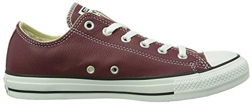 Converse - Chuck Taylor All Star Core Leather Ox, Scarpe Da Ginnastica unisex rosso (Rot (18 BORDEAUX))