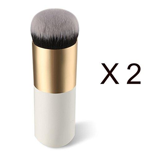 LianLe®2PCS Pinceaux de maquillage cosmétiques brosse éponge liquide fond de teint crème maquillage usage professionnel et domestique