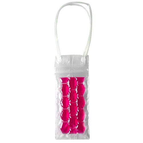 OUNONA Sac de glace, sac de congélateur de bouteille de vin Sac de refroidissement de sac de glace Apportez le support de refroidissement frais de gel (Rosy)