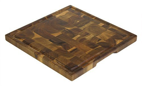 14Akazie End Grain Square Cutting Board W/Juice Groove by Mountain Woods by Mountain Woods -