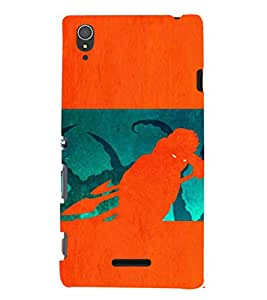 EPICCASE the monster Mobile Back Case Cover For Sony Xperia T3 (Designer Case)