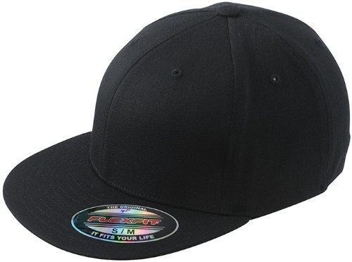 Myrtle Beach Uni Cap Flexfit Flatpeak - schwarz