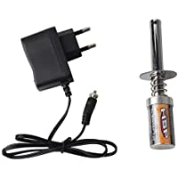 Uokoki Reemplazo Starter Kit de bujías incandescentes Encendedor Cargador de batería para HSP Redcat Nitro Potencia 1/8 1/10 RC Car
