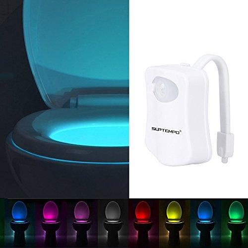 Smartes Toilettenlicht mit Bewegungssensor, mehrfarbige LEDs