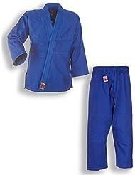 """Traje de judo Yamanashi """"to start"""" colour azul y blanco para cinturón de seguridad para niños y principiantes, 9002, 110-200, color Azul - azul, tamaño 130"""