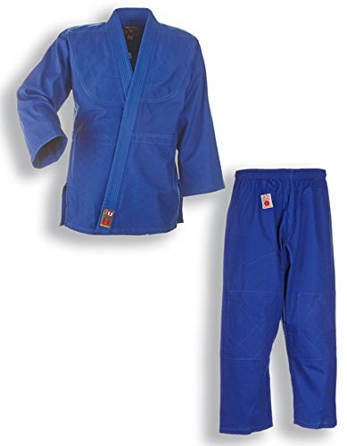 Judo tuta judogi to start blu con cintura bianca per bambini e principianti, 9002, 110-200, blu, 110