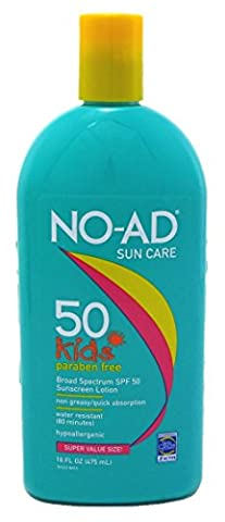 No-Ad Spf#50 Kids Sunscreen Lotion 16oz (2 Pack)