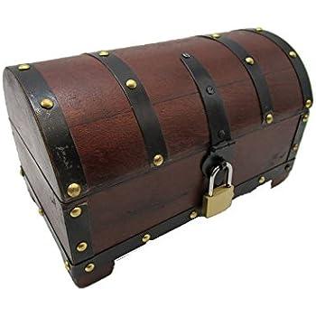 ejks schatzkiste holzkiste holzbox truhe mit schloss aufbewahrungsbox box schatztruhe 20x11x10. Black Bedroom Furniture Sets. Home Design Ideas