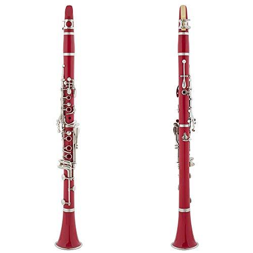 QWEYA Clarinete de Instrumentos Musicales Gota B Ajuste B Teclado Plateado niquelado de 17 Teclas, Doble Ajuste Clarinete avanzado (múltiples Colores),6