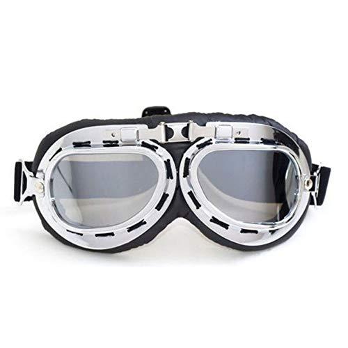 JoyFan Helm Steampunk Vintage Goggles Sonnenbrille Eyewas für Outdoor Sports Motocross Racer
