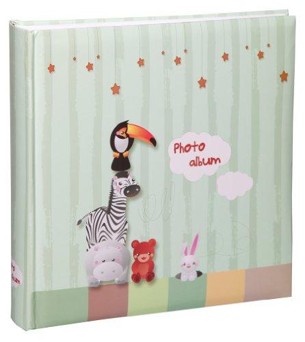 Tiere Fotoalbum in 30x30 cm 100 Seiten Babyalbum Jumbo Foto Album: Farbe: Grün