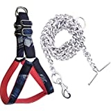 S.Blaze Heavy Quality Dog Chain for Heavy Weight Dogs (Steel) 160 cm Dog Chain Leash (Silver)