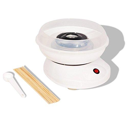 vidaXL 50510480W weiß Wattebehälter Zucker Zuckerwatte-Maschine (480W, 220–240, 260mm, 280mm, 173mm)