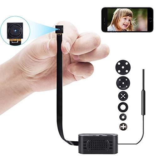 Mini Kamera Kleine HD Wireless Überwachungskameras Tragbare WLAN WiFi Netzwerk knopfkamera IP Videorecorder mit Bewegungsmelder (Wireless-kamera Mini)