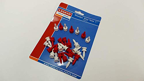 Legend Golf Step Tees 1 Inch 30 Stück Farbe: Rot und Weiss