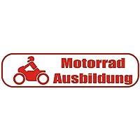 INDIGOS UG Magnetschild Motorradausbildung 30 x 8 cm reflektierend Magnetfolie f/ür Auto//LKW//Truck//Baustelle//Firma