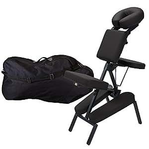 Earthlite Chaise de Massage Elément Portable Package Nt Noir